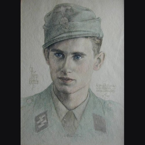 Colored Waffen SS Sketch of KIA # 813