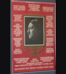 Hitler 50Th Birthday Poster W/ Matching Postcard # 849