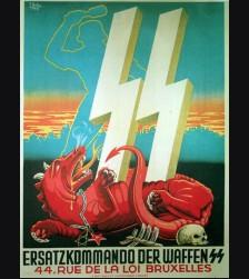 Waffen SS Recruiting Poster ( Belgian ) # 851