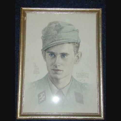 Waffen SS KIA Sketch  # 865