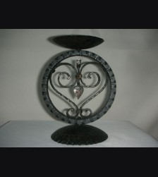 SS Wedding Candle Holder- Wrought Iron Single Cup # 996