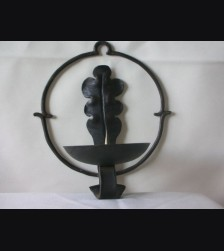 Iron Wall Mount Oakleaf Candle Holder # 999